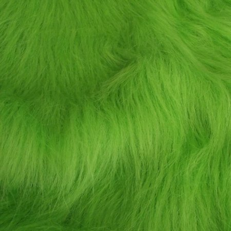 Bright Green Fur, Long Fluffy