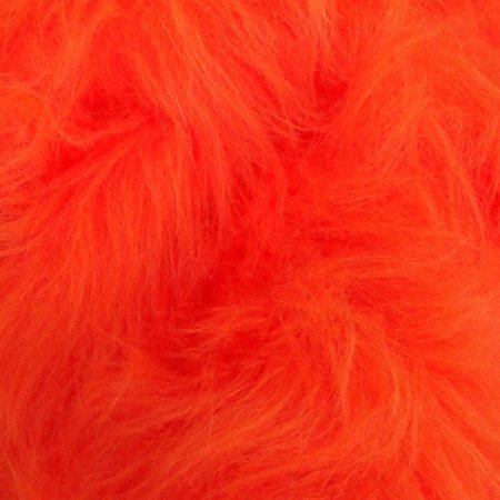 Bright Orange Fur, Long Fluffy