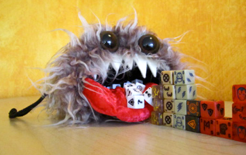 Squatch the Furry Monster Dice Bag