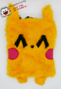 Pika Bunny Purse w/Red with White Stars